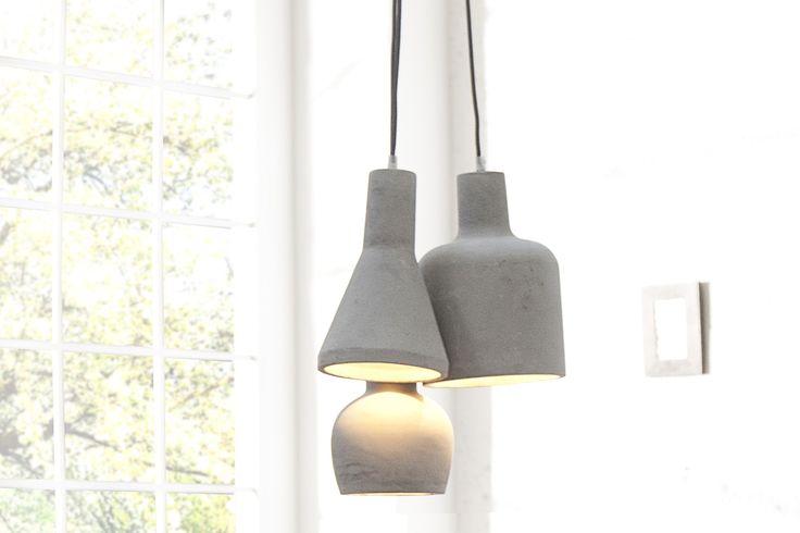 Závesná lampa KENT MULTI 3 - sivá
