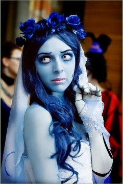 Corpse Bride Costume Face & Body Paint