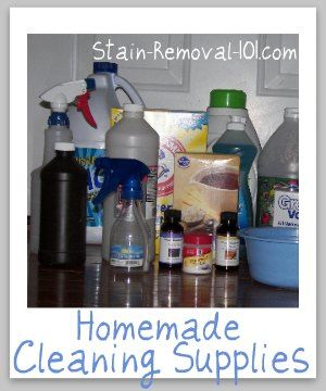 Homemade Cleaning Supplies - Ingredients And Equipment Needed