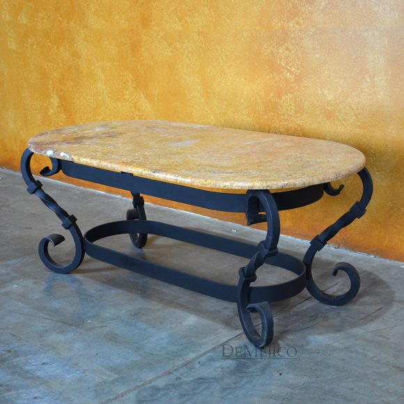 mediterranean iron coffee table