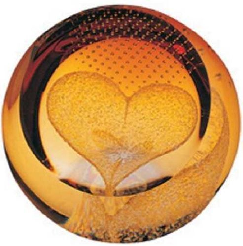 New boxed CAITHNESS GLASS Love - Heart of Gold paperweight U01056 in Pottery, Porcelain & Glass, Glass, Art Glass | eBay!