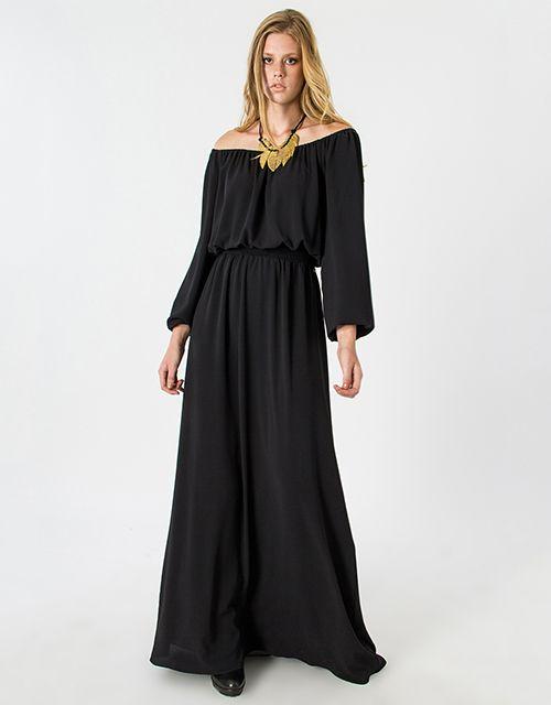 The long sleeve maxi dress