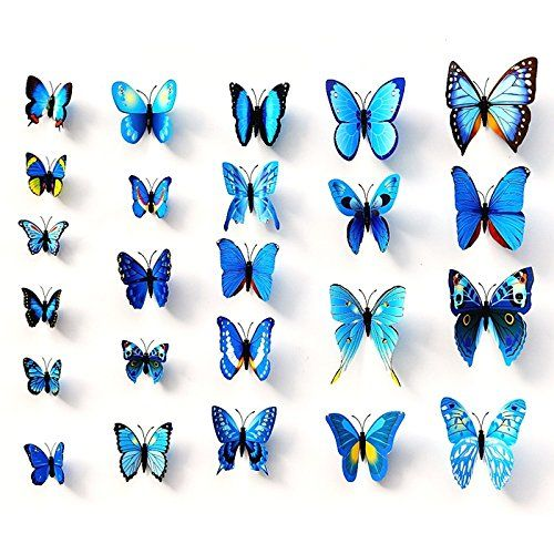Christmas Wall Decor Butterflies : Ideas about butterfly wall stickers on