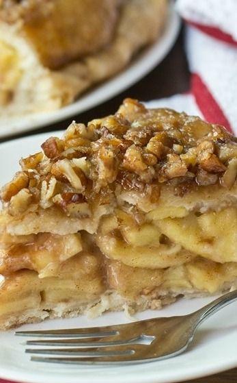 Upside Down Apple Dumpling Pie