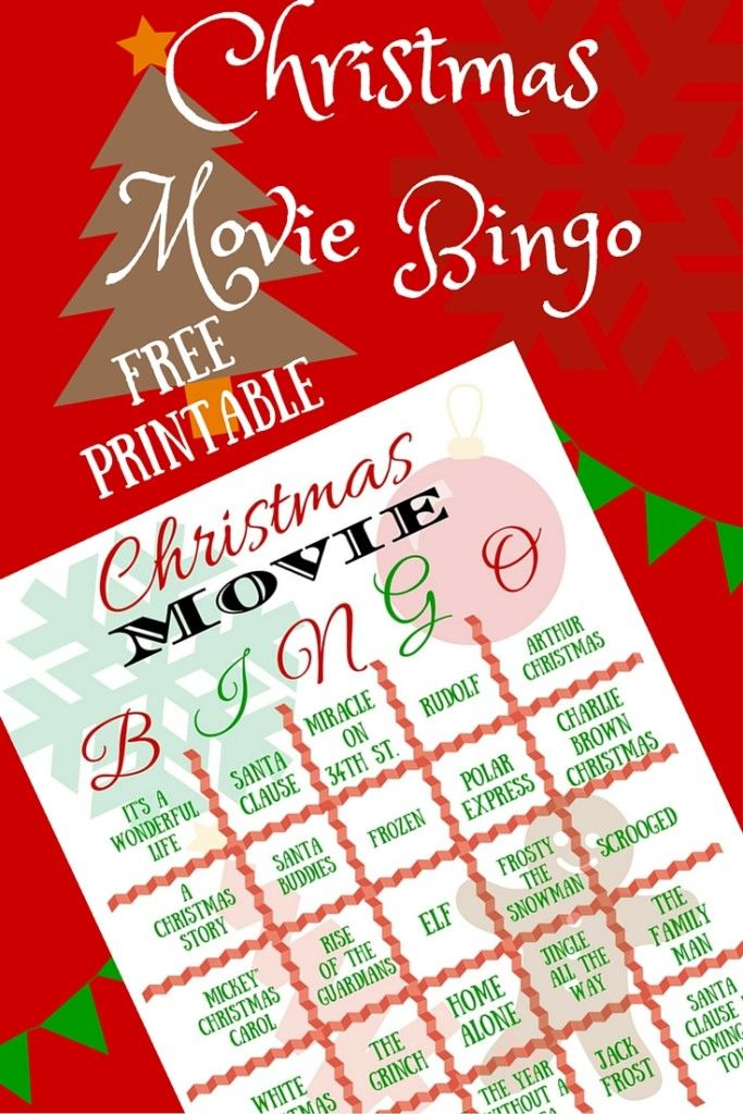 Christmas Movie Bingo - have some fun with friends and family and make great memories playing Christmas Movie Bingo! #blessedbeyondcrazy #Christmas #games