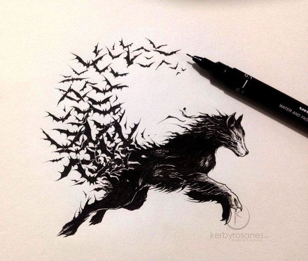 Vampire Wolf | By kerbyrosanes ::::: Check him out here:http://kerbyrosanes.deviantart.com/