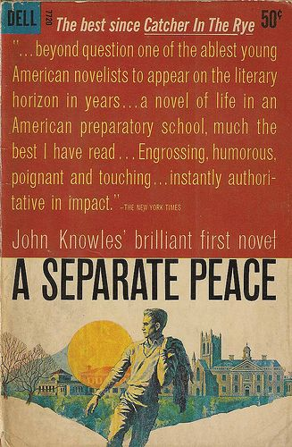 an essay on the novel a separate peace by john knowles A separate peace essay in the novel, a separate peace by john knowles, the protagonist, gene forrester battled within himself to find a separate peace and in this process directed his emotions at phineas, his roommate.