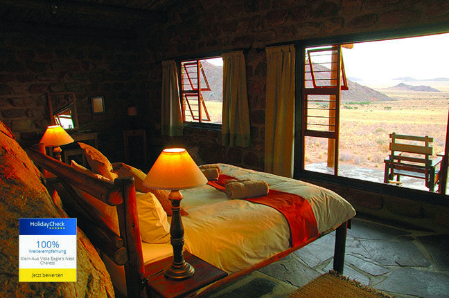 HolidayCheck recommends all Gondwana Lodges What a delight! All Gondwana Collection lodges that have been listed on HolidayCheck for the past year have received 90-100% recommendations.  http://www.klein-aus-vista.com/accommodation/eagles-nest-chalets/