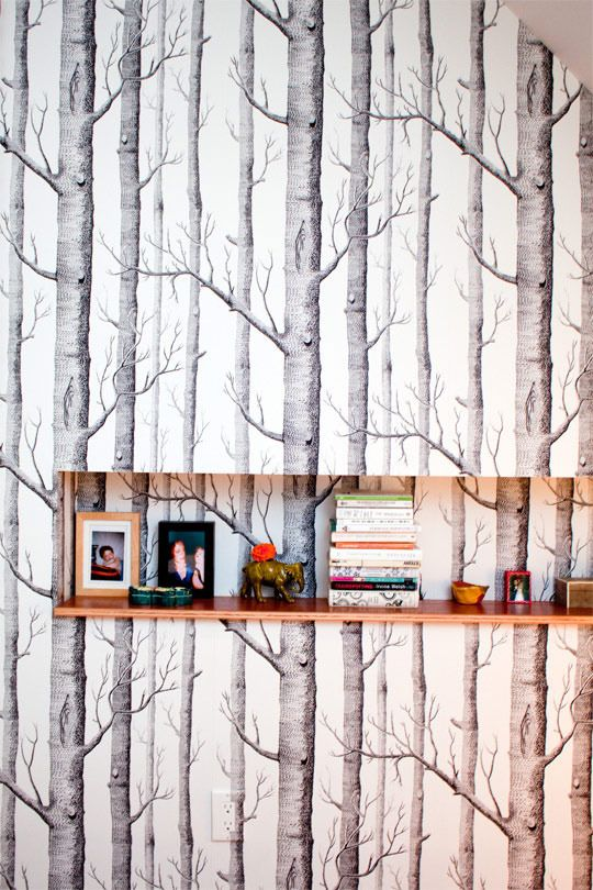 tree wall.: House Tours, Reimagin Victorian, Steph Amp, Trees Wallpapers, Apartment Therapy, Forests Wallpapers, Apartments, Houses Tours, Victorian Houses