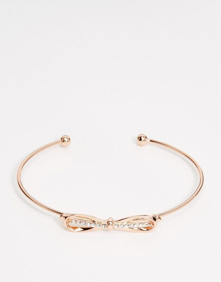 Ted Baker | Ted Baker Sorina Sleek Bow Ultra Fine Cuff Bracelet at ASOS