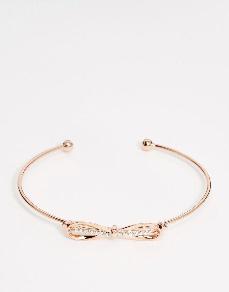 Ted Baker | Ted Baker Sorina Sleek Bow Ultra Fine Cuff Bracelet at ASOS