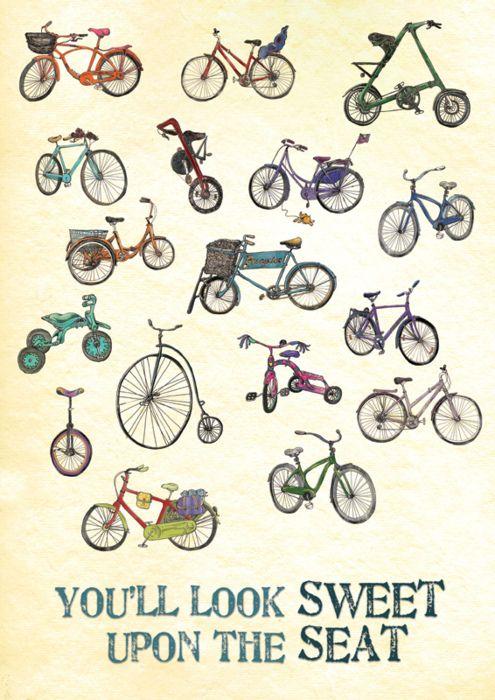 #illustration #bikes