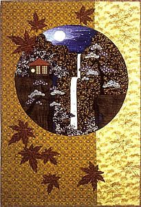 Waterfall Asian applique quilt pattern from Story Quilts.