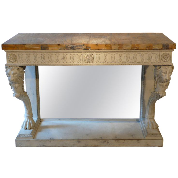 Captivating A Neo Classical Italian Console Table With Lions Heads