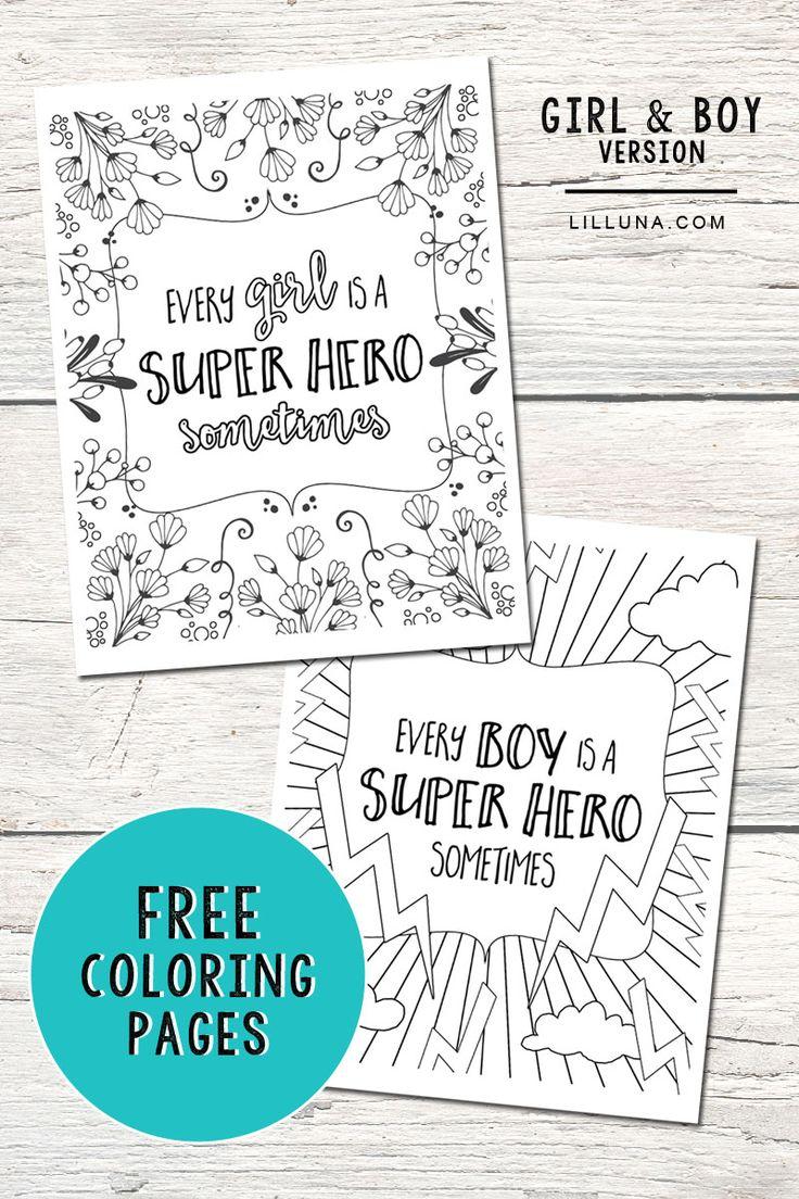 FREE Super Hero Coloring Pages. Get the free download at lilluna.com #SharetheSuper @DelMontebrand