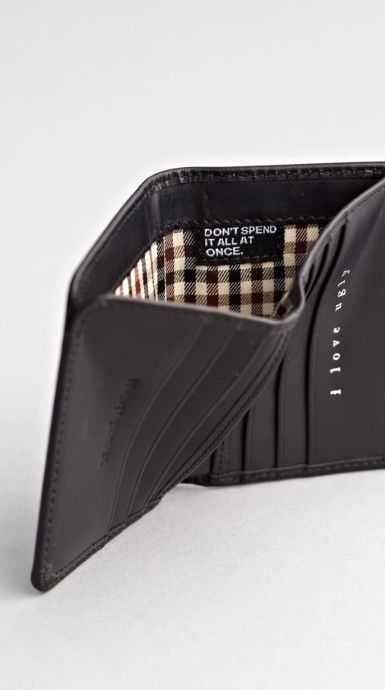 don't spend it all at once | Black Franklin Wallet by I Love Ugly