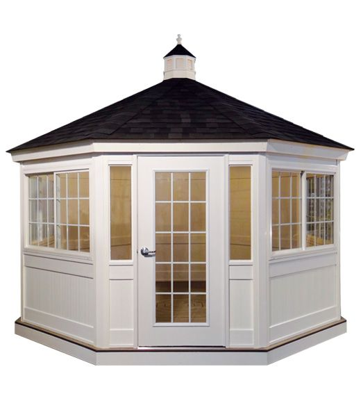 14' Vinyl Enclosed Gazebo