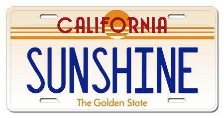 "VINTAGE CALIFORNIA Custom License Plate 1980s Retro ""Any Text ..."