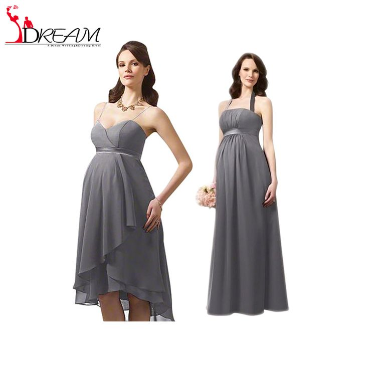 Find More Bridesmaid Dresses Information about Grey Short Maternity Bridesmaid Dresses for Weddings 2016 Elegant Pleat Chiffon Convertible Dress Formal Wedding Party Dress,High Quality dress tiger,China dresses formal Suppliers, Cheap dress soft from Orenda Wedding Dress Factory on Aliexpress.com