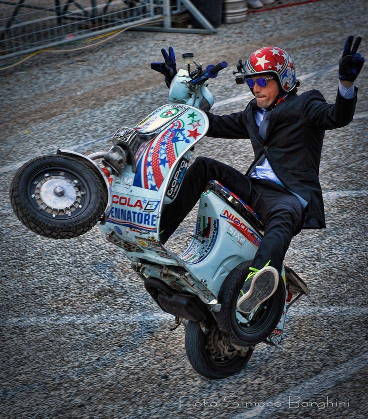 Nicola l'impennatore. Expo Motori Pontedera
