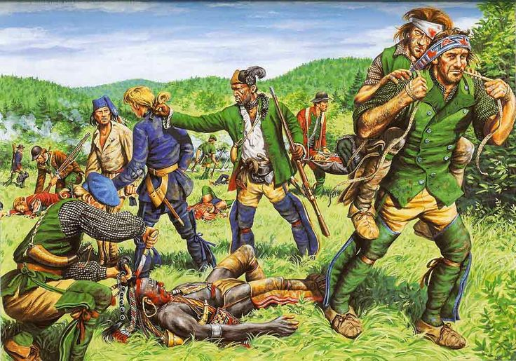 The 1759 raid on St Francis.  Amongst the rangers was a freed African-American slave  called Duke Jacob.