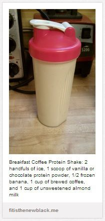 Coffee protein smoothie for breakfast - i have to try one of these!