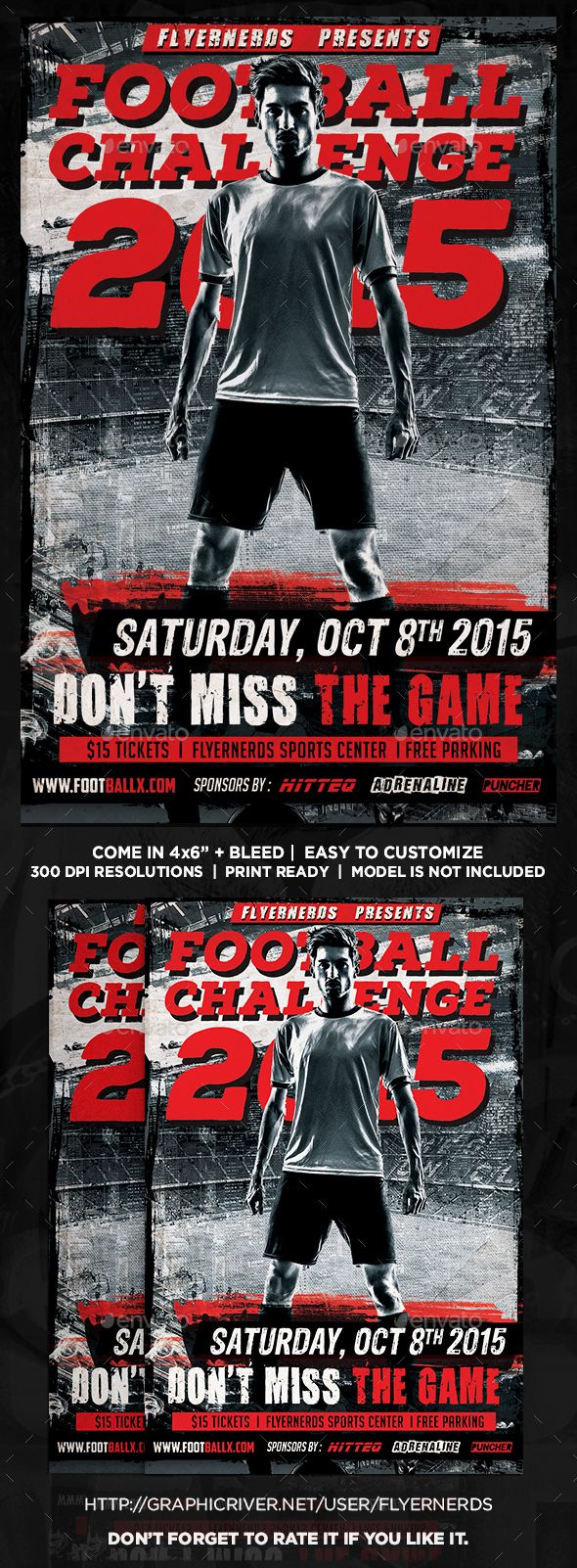 Football Challenge Sports Flyer