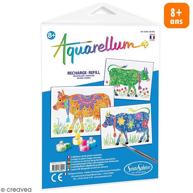 Compra nuestros productos a precios mini Recarga Cuadro para pintar Aquarellum Vacas - 3 dibujos - Entrega rápida, gratuita a partir de 89 € !