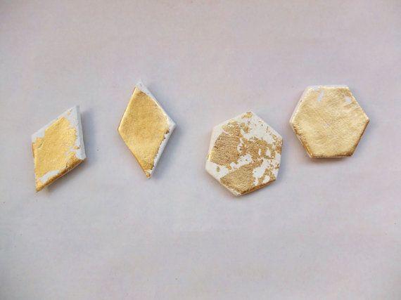 Gold Leaf Magnets | Set of Two