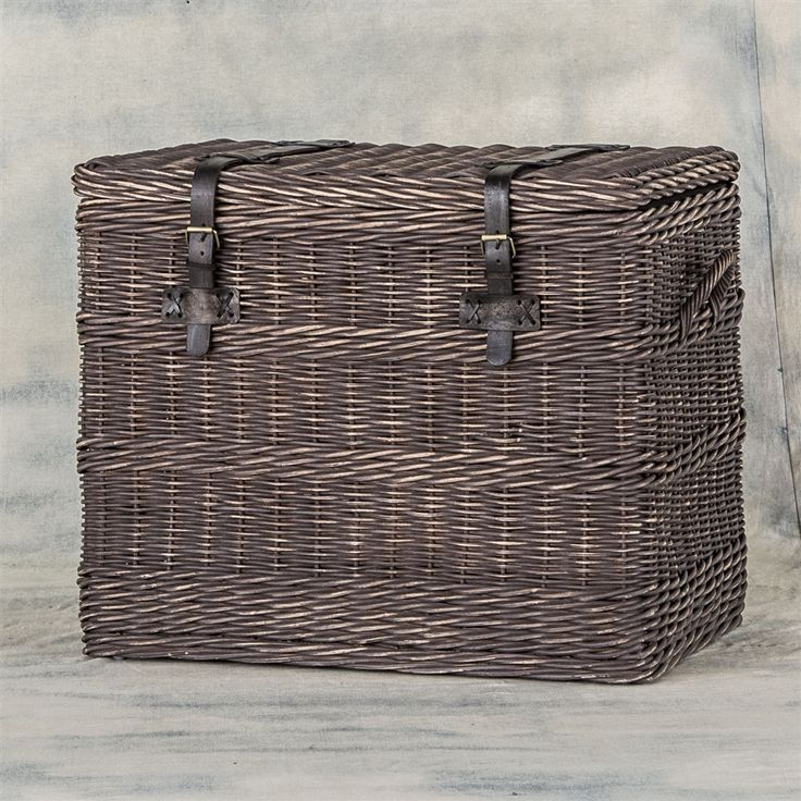 Theory Wicker Trunk, The Khazana Home Austin Furniture Store