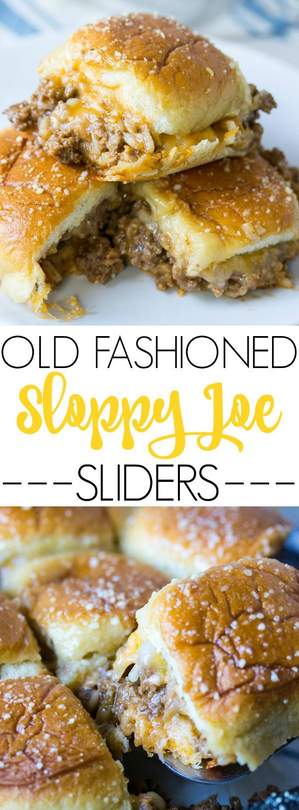 Comfort food is switched up to make these delicious Old Fashioned Sloppy Joe Sliders.