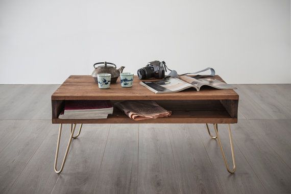 coffee table solid wood Low tablecolor WALNUT by dokke on Etsy