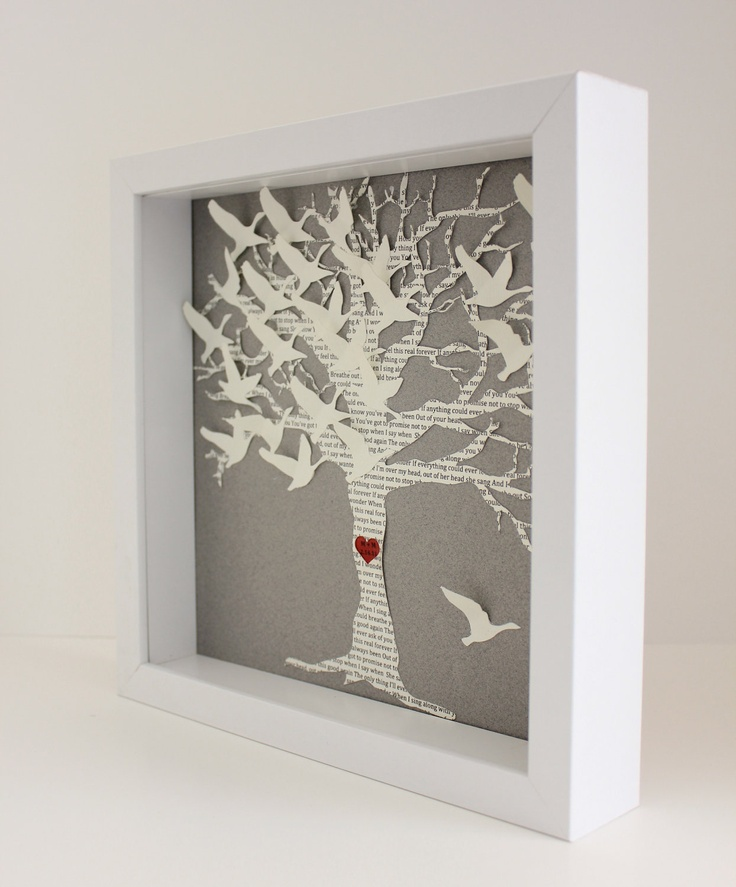 lyric wedding gift frame love birds tree picture frame unique personalized wedding gift