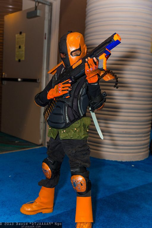 Coolest kid ever! Deathstroke the Terminator | Long Beach Comic Con 2013 #cosplay