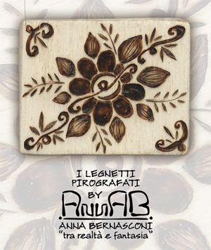 Pirografia su legno / Anna Bernasconi Art / FILI DI PASSATO, FILI DI FUTURO / ispirazione floreale