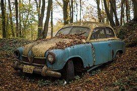 Classic Car, Car, Vintage, Junk Yard