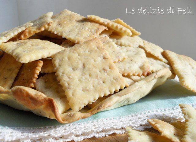 Crackers con pasta madre