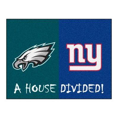 """NFL Philadelphia Eagles/New York Giants House Divided Rug 33.75""""x42.5"""""""
