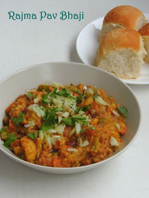 Rajma Pav Bhaji/Red Kidney Beans Pav Bhaji