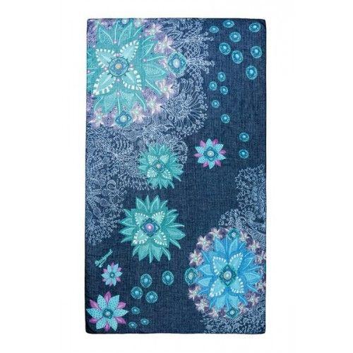 Foulard rectangulaire bleu - Bolywood | Desigual.com