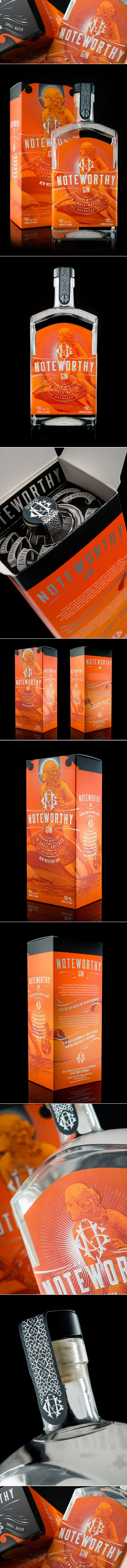 Noteworthy Gin — The Dieline | Packaging & Branding Design & Innovation News