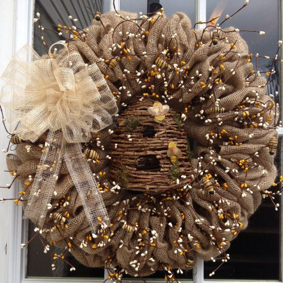 Busy Busy Bees is my signature wreath! The first wreath I designed and created when starting my business. I am very proud of this design and