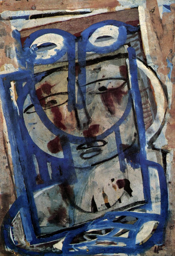 | Ian Fairweather, Woman at Window, 1955, Gouache on cardboard |