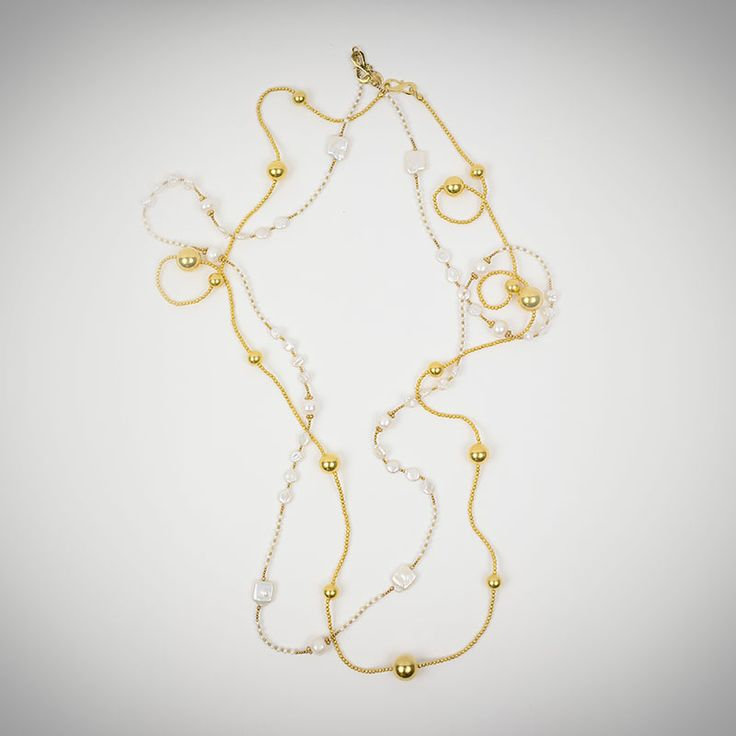 AMRAPALI Jaipur Elegant silver gold plated multi pearl bead necklace