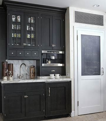 love this coffee bar and pantry door