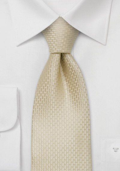 Wedding silk ties  Champagne colored wedding necktie