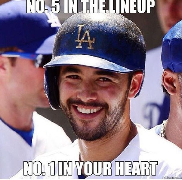 Andre Ethier is number 1 in my heart! #Dodgers