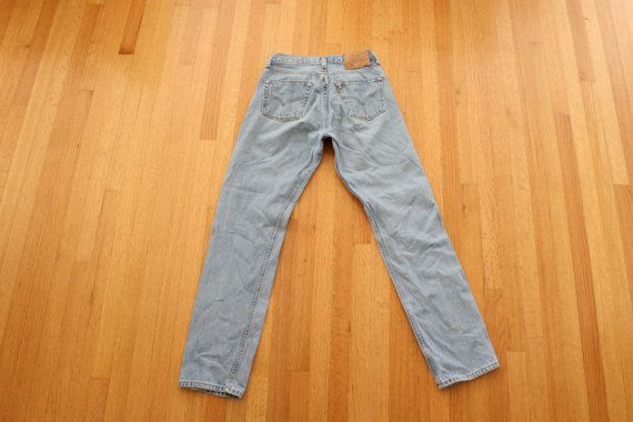 Levis 501s/ boyfriend jeans/ 90s high waisted denim by MILKTEETHS