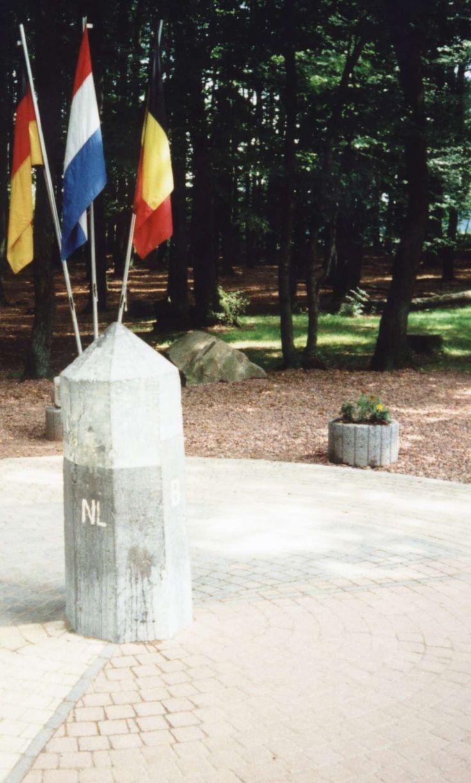 Drielandenpunt Vaals, Nederland, Duitsland en Belgie.