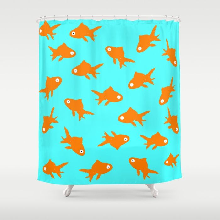 Buy goldfish Shower Curtain by myepicass. Worldwide shipping available at Society6.com. Just one of millions of high quality products available.